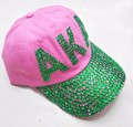 10pcs  Wholesale Diamond Point AKA  Sorority hat  letters style Glass denim caps women  custom baseball cap Hat rhinestone