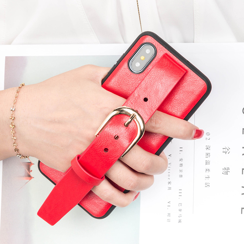 Fashion Cute Wristband Phone Case For Xiaomi Mi 8 8se 6 A2 6X Mix 2s Max 3 PU Leather Fundas Trend Belt Bracket Strap Back Cover in Fitted Cases from Cellphones Telecommunications