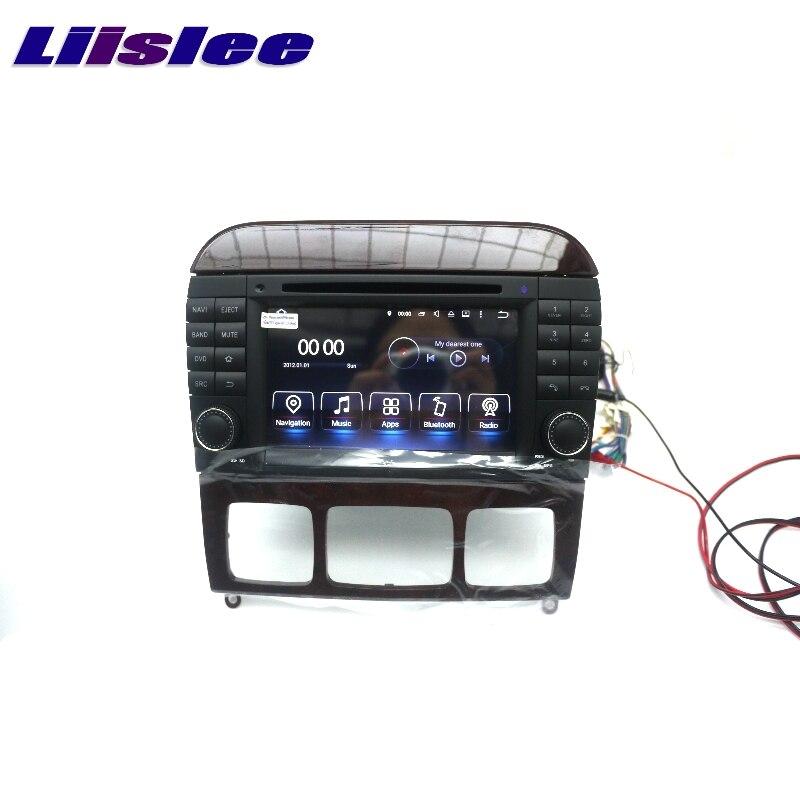 Pour Mercedes Benz MB S W220 S55 LiisLee Voiture Multimédia GPS Audio Salut-fi Radio Stéréo Original Style De Navigation NAVI