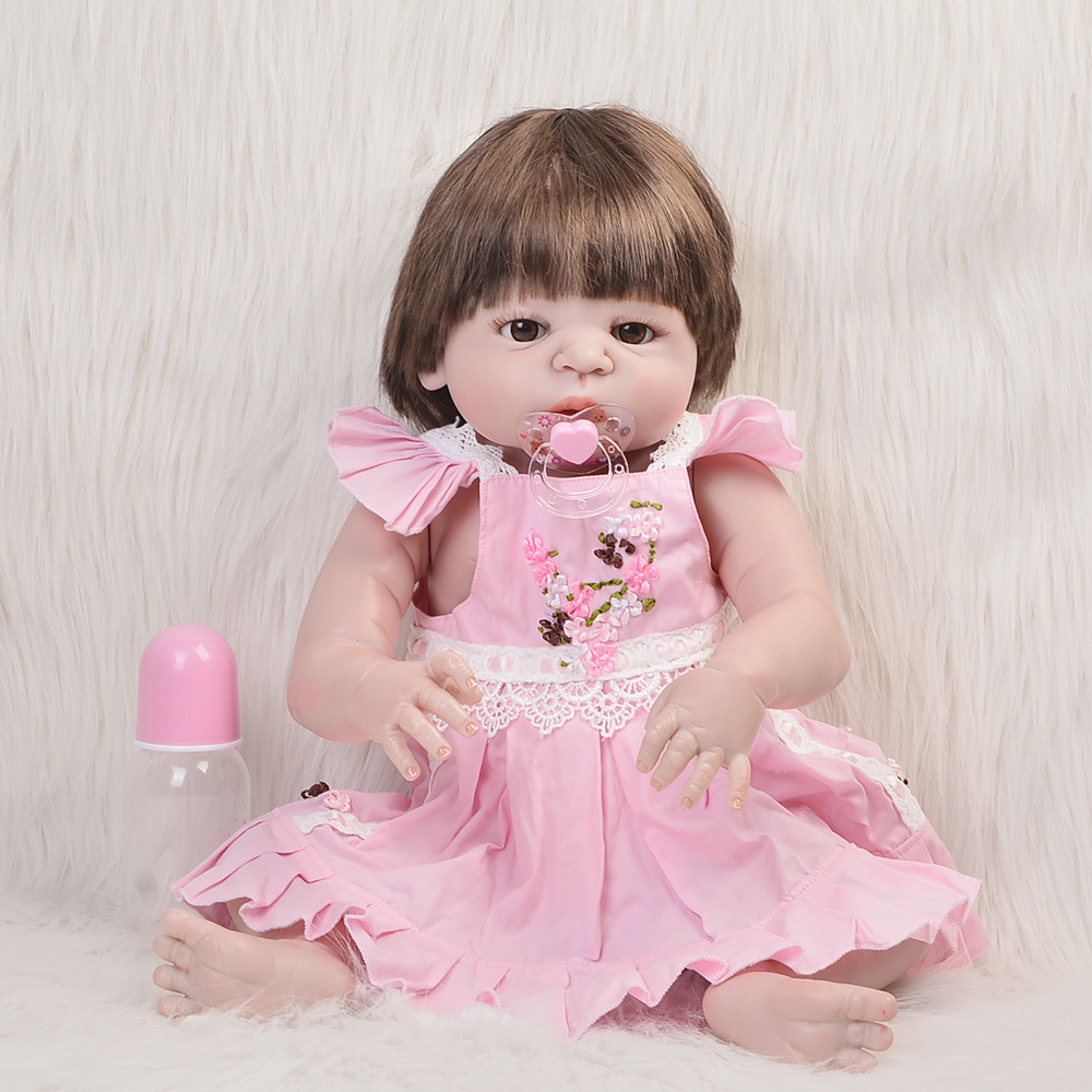 23 Inch Red Skin Newborn Doll 57 cm Full Silicone Vinyl Realistic Baby Toy Doll Collectible Reborn Bonecas Menina For Kids Gifts цена