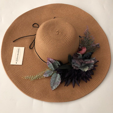ZJBECHAHMU Fashion New Solid Floral Vintage Straw Sun Hats For Women Girl Summer Caps Outdoor holiday sunshade folding beach hat