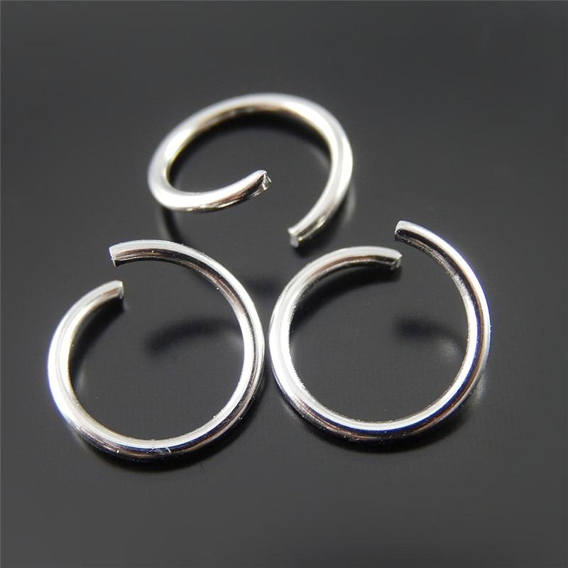 49e5c6d599f9 200 unids plata antigua aleación lazo abierto joyería encontrar collar  cadena colgante accesorios mujeres regalo 10 1   1mm