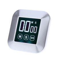 Hot Touch Screen Timer Electronic Kitchen Timer LCD Digital Timer Cooking Count Down Up Clock Loud Alarm Reminder