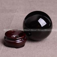 AAA++1PC Natural obsidian Quartz Magic Crystal Healing Ball Sphere 50MM + Stand natural stones and minerals