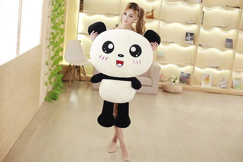 huge 110cm cute gaint panda plush toy soft doll hugging pillow Christmas gift s2385 huge 120cm cute cartoon dinosaur plush toy down cotton soft doll hugging pillow christmas gift b1490
