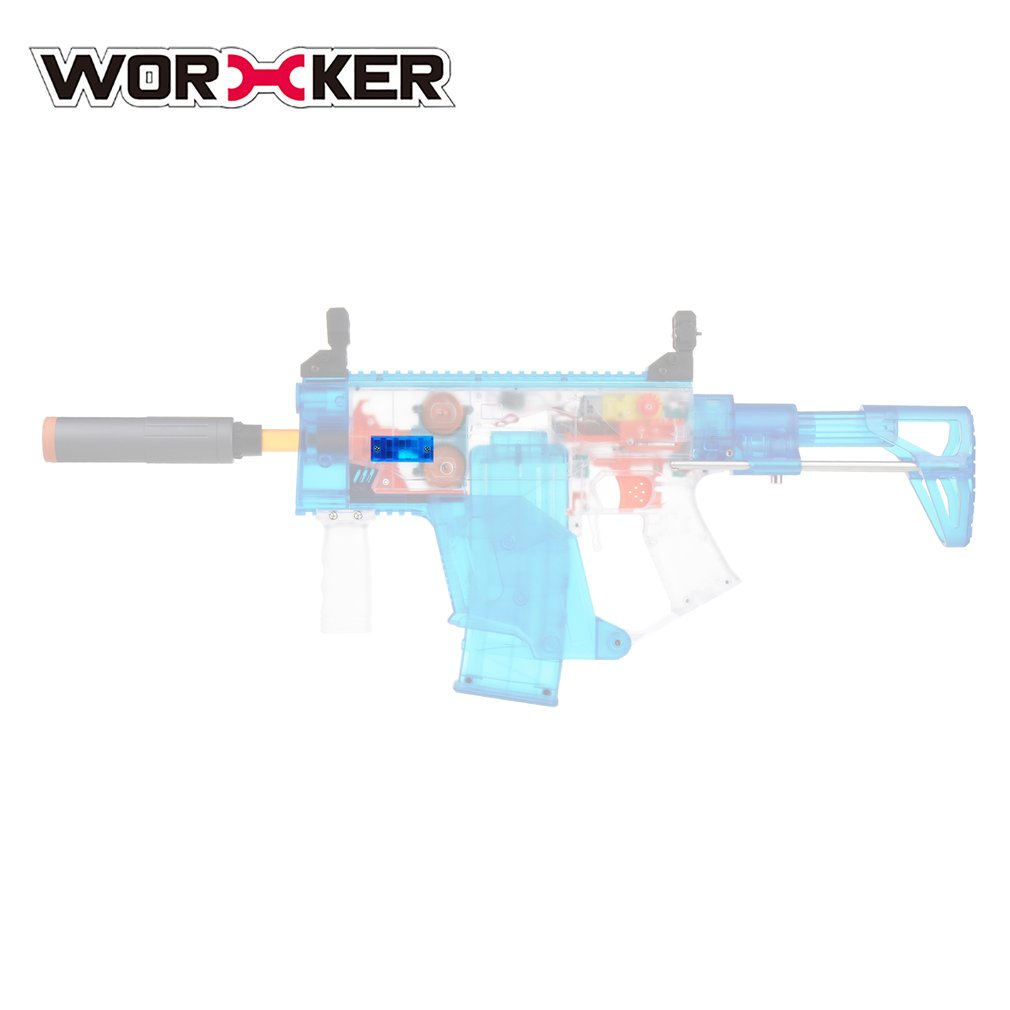 WORKER 5cm Multi-Slot Rail Mount Scope Base for Worker 3D Printed Mold Transparent Blue Toy Gun Modification Accessories New