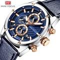Мини фокус спортивные часы для мужчин водонепроницаемый кожаный ремешок Хронограф для мужчин s наручные кварцевые наручные часы для мужчин...