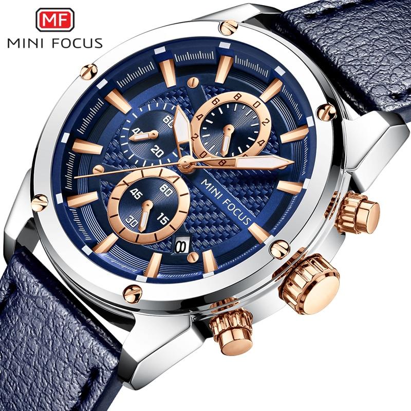 1477.79руб. 55% СКИДКА|Спортивные часы MINI FOCUS, мужские водонепроницаемые наручные часы с кожаным ремешком, кварцевые наручные часы|Спортивные часы| |  - AliExpress