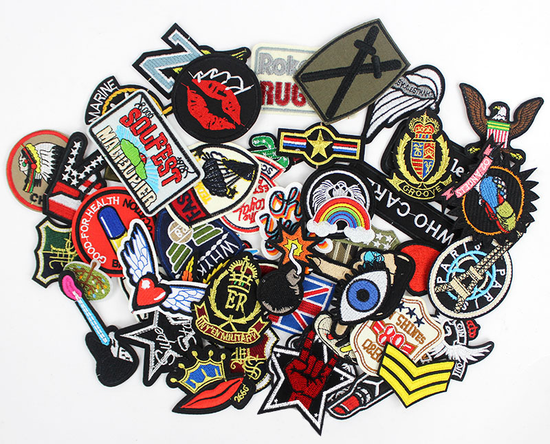 Image 3 - 50pcs/lot  clothes patches badges iron on sewing on cropped patches for clothes backpack Stickers Appliques-in Patches from Home & Garden