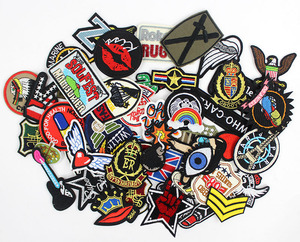 Image 3 - 50pcs/lot  clothes patches badges iron on sewing on cropped patches for clothes backpack Stickers Appliques