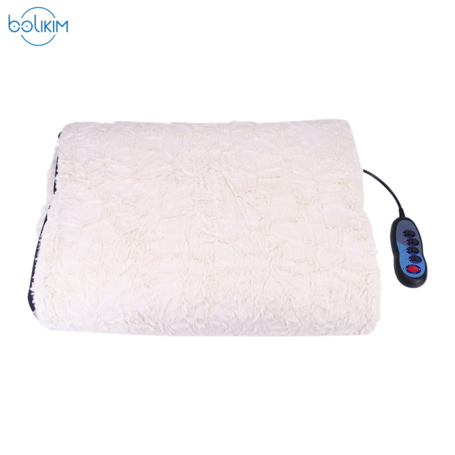 BOLIKIM Collapsible Back Leg Full-body Electric Massage Mattress Health Care Multifunction Chair Blanket Bed Back Massager