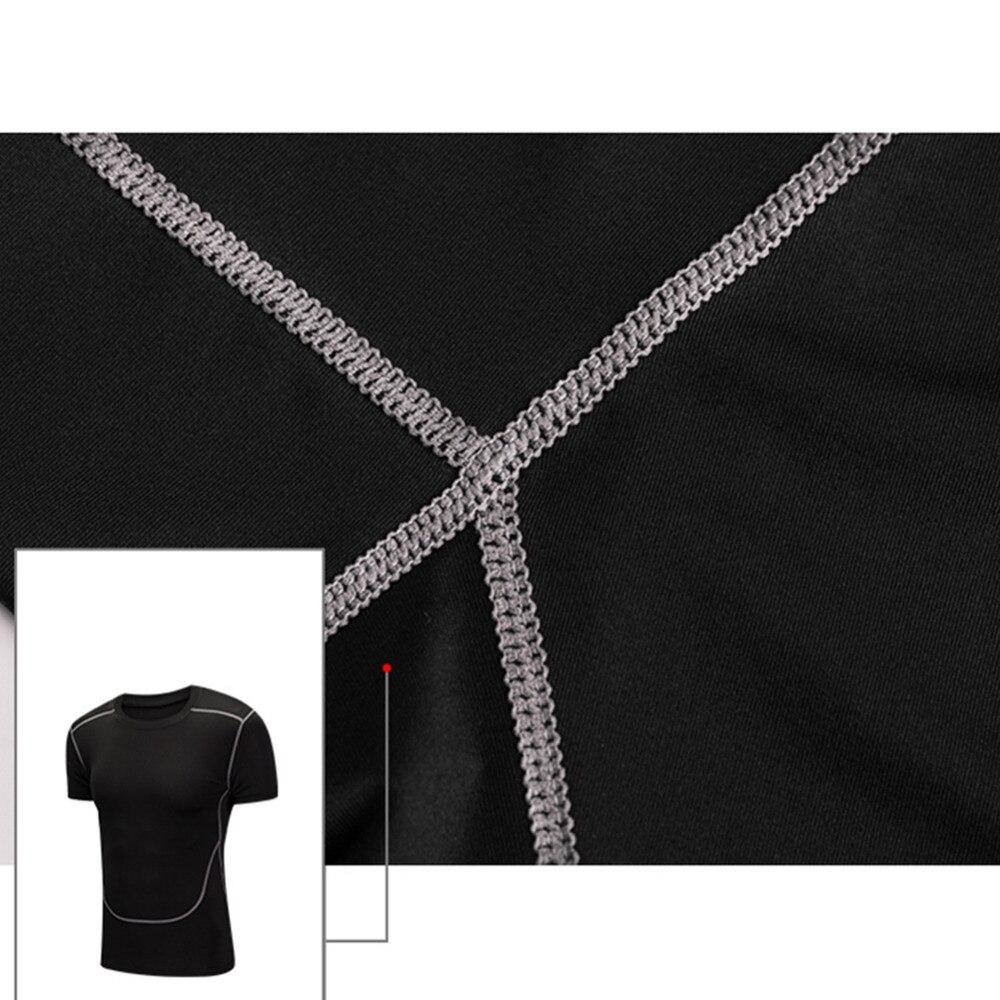 Taille ensemble Élastique Vitesse Remise 5 cou Collants O Forme De Vêtements Tops Pcs En Casual Entraînement Costumes Sec Compression Sport Mens 1pEHqwq