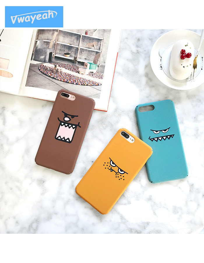 Ins hot Carton Funny Quirky Spoof Animation Expression Face Evil Person Devil Star Style Case For iPhone 6 6s 7 8 Plus