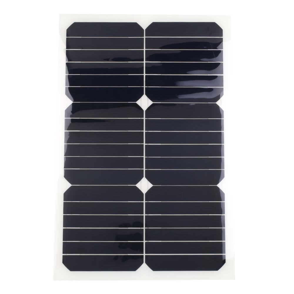 Flexible Solar Panel Plate 18V 20W Solar Charger for Car Battery Charging 18V Monocrystalline Cell Module For Hause,Roof,Boat