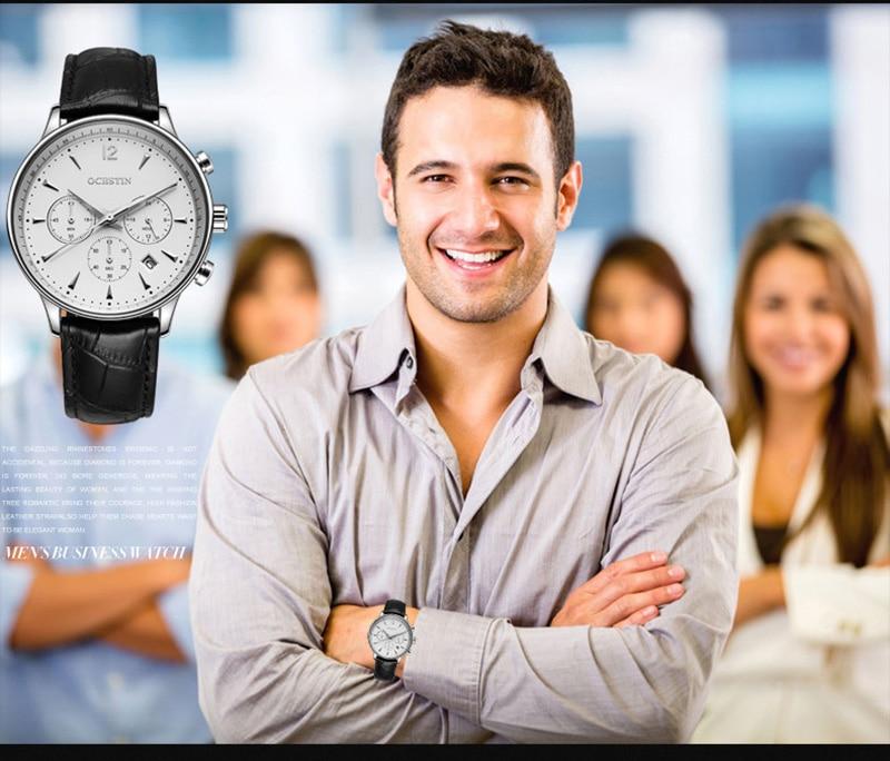 Mens Relógios De Couro À Prova D'