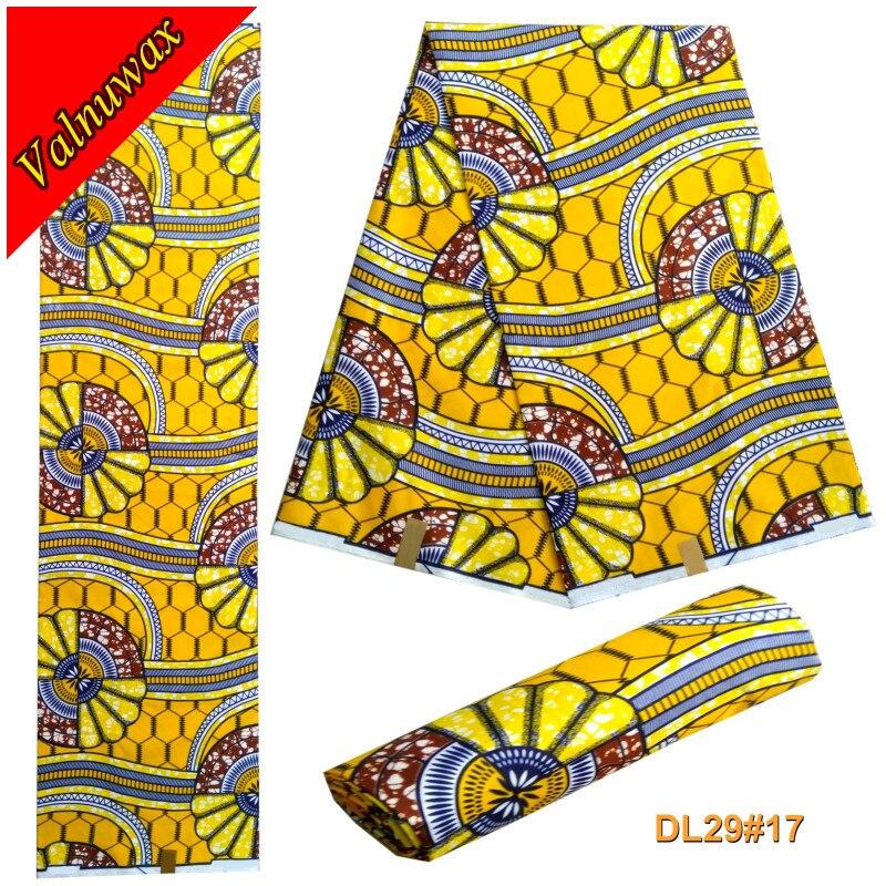 Stylist nigeria fashion 2017 6yards/lot 100%polyester African  Wax Hollandais Real Wax Prints Fabric For wedding dressStylist nigeria fashion 2017 6yards/lot 100%polyester African  Wax Hollandais Real Wax Prints Fabric For wedding dress