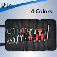 Urijk 4Colors Oxford Canvas Repairing Tool Bag Multifunctional Set Kit Rolled Portable Chisel Pliers Electricworking Woodworking