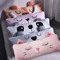 Chpermore Cute Cartoon Children bed cushion double sofa Tatami Bed soft bag Modern simplicity Bed pillow For Sleeping