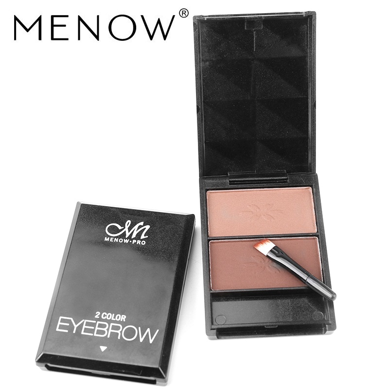 Menow Brand Beauty Make-up Color Eyebrow Boxed Natural Three-dimensional Water Does Not Bloom Face Shadow Cosmetics E16002 ~