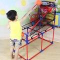 106-160 cm Deporte Máquina de Juego de Baloncesto Aro de Baloncesto Bajo Techo Soporte de Altura Ajustable con Inflador para Niños Embroma el Regalo