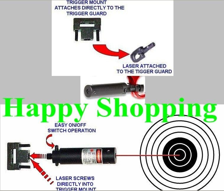 Красный лазерный точечный прицел для пистолета Спусковая Скоба