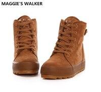 ماجي ووكر أزياء الشتاء أحذية الثلوج قصيرة الأحذية عارضة نمط preppy المرأة الكاحل أحذية حجم 35 ~ 40