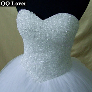 Image 5 - 2020 Bling Bling Shining Crystals Ball Gown Wedding Dress Custom made Bridal Gown Robe De Mariage  Vestido De Noiva
