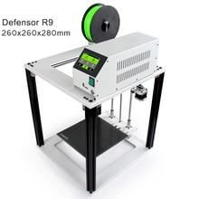 Сенсорный экран легко 3D-принтеры Defensor R9 большой Размеры Cube металлический Алюминий Рамки impresora 3 D DIY Kit для начинающих