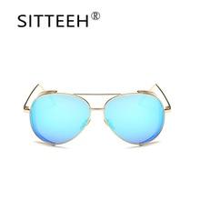 SITTEEH steampunk gafas de Sol de Metal retro vintage gafas de sol para mujeres de los hombres oculos gafas de sol hombre masculino SI532