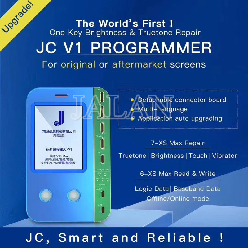 JC V1 Light Sensor True Tone Repair Viration Recovery For Iphone 6 7 Plus 8 Plus X XS MAX XR Touch Chip JC PRO 1000S Programmer
