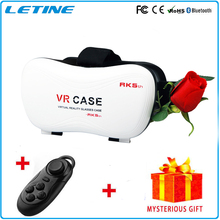 2016 Google Cardboard VR BOX Virtual Reality Headset 3D Glasses DVD Movies For iphone Samsung Phone Glasses GD02-5