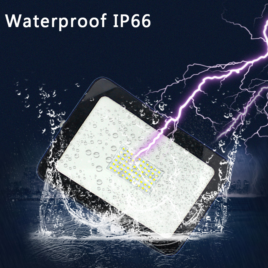 Outdoor LED Floodlight Waterproof IP66 Reflector Led 100W 150W 50W 30W 10W Spotlight Ultra Thin LED Flood Light Searchlight