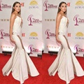 2017 Olivia Culpo Celebrity Evening Dress Red Carpet Dress Mermaid Sweetheart Appliques Long Backless Prom Party Gowns