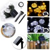 Solar Lamps 4 8M 20LEDs Crystal Ball Luz Waterproof Colorful Warm White Fairy Light Garden Decoration