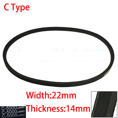 C 5207 5283 5334 5500 22mm Width 14mm Thickness Rubber Groove Cogged Machinery Drive Transmission Band Wedge Vee V Timing Belt