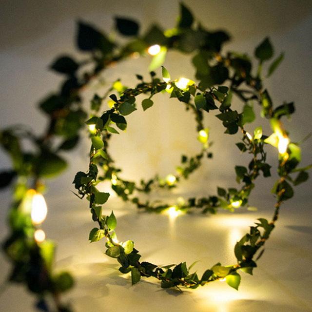 Mabor Light String 10M LED Copper Solar Leaf Garland Light String Christmas Home Decoration & Mabor Light String 10M LED Copper Solar Leaf Garland Light String ...