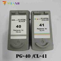 vilaxh PG 40 CL 41 Ink Cartridge for Canon PG40 CL41 PG 40 Pixma MP140 MP150 MP170 MP190 MP210 MP220 MP450 MP460 MP470 iP1800