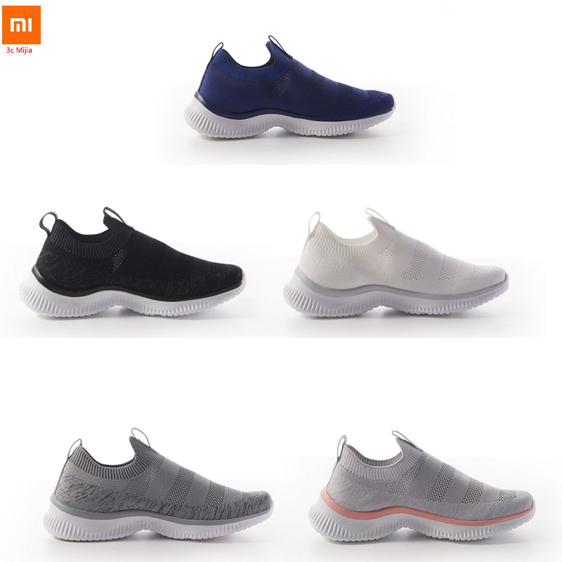 Original Xiaomi Youpin ULEEMARK Lightweight Walking Couple Casual Shoes Flying Woven Upper Breathable Structure For Man