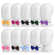 Новые для мальчиков и девочек дети бабочка британский стиль галстук Твердые Боути Предварительно галстук связали Дети Свадебная вечеринка атласная бабочка Винтаж