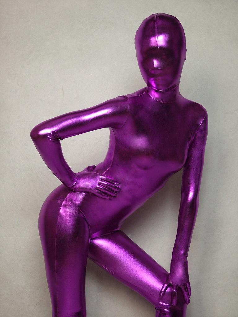 Indigo Lycra Spandex Viscose Zentai Sexy Suit Original Full Body Costumes Personality Role Play Clothes