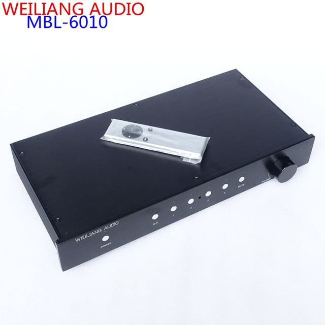WEILIANG AUIDO & BREEZE AUDIO mbl6010 Full-balanced  preamplifier Remote control version Clone MBL6010D Finished pre amp