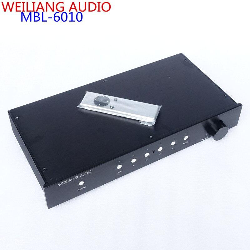 WEILIANG AUIDO et BRISE AUDIO mbl6010 Plein-équilibré préamplificateur télécommande version Clone MBL6010D Fini pré amp