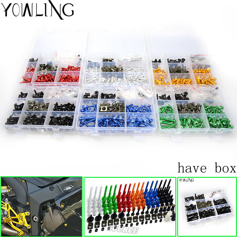 76 PCS Universal Motorcycle Fairing Body Bolts Spire Screw Spring Nuts FOR <font><b>SUZUKI</b></font> <font><b>GSXR</b></font> 250 600 750 1000 <font><b>1100</b></font> GSX1250FA GSX 1400 image