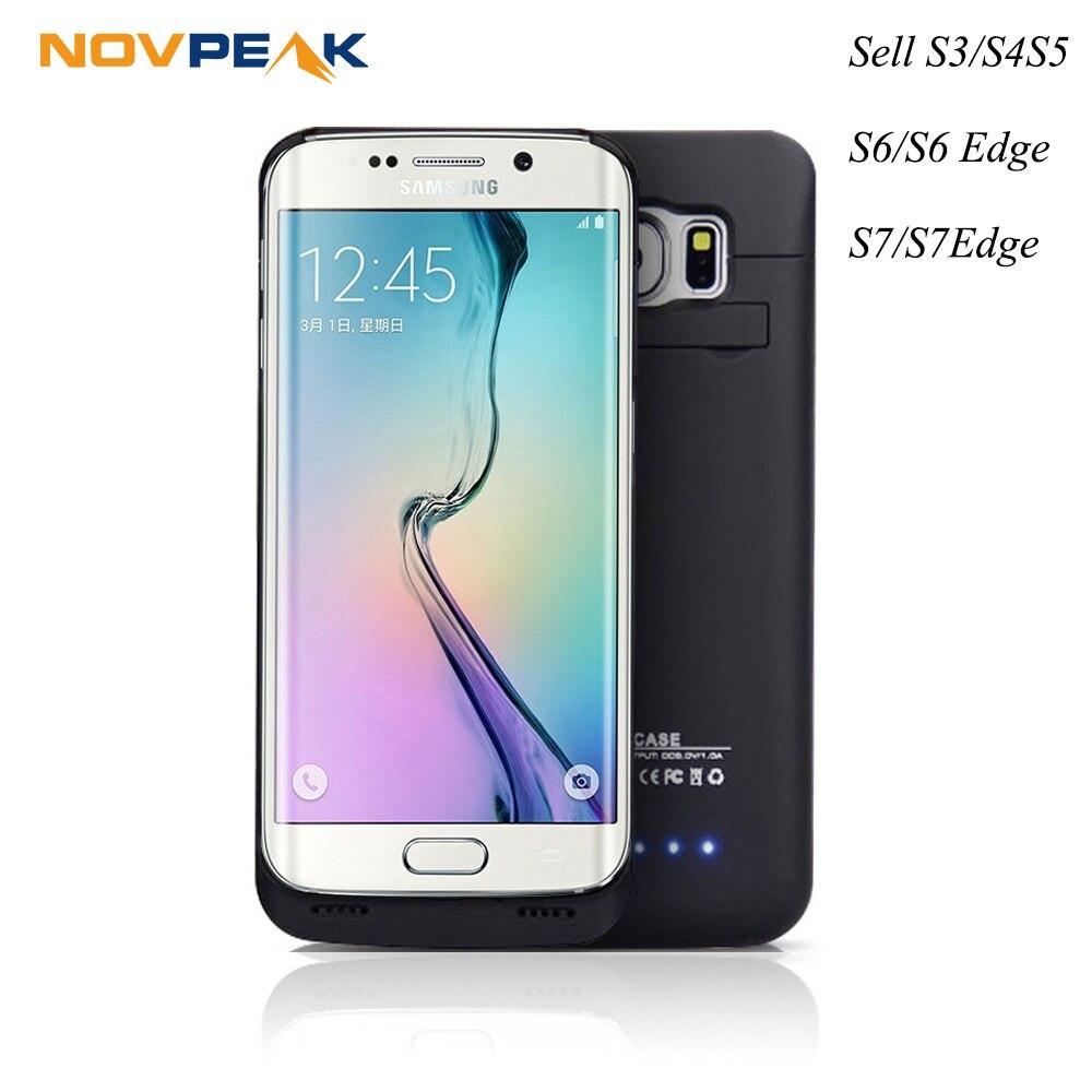 imágenes para Ultra Delgado Cargador de Batería Externo Del Banco de la Energía Powerbank Reserva Portable cubierta Para Samsung Galaxy S3 S4 S5 S6 S7 S6/S7 Borde