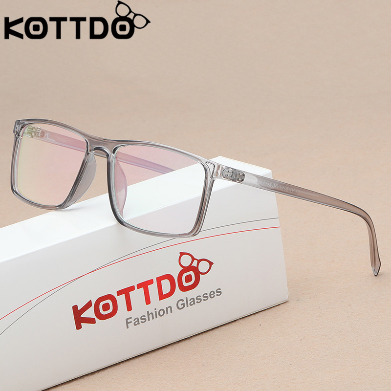 KOTTDO Retro Eyeglasses Men Women Square Glasses Frame Unisex Optical Glasses Eye Glasses Frame Lentes Opticos Mujer