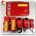 2 unidades Nuevo tipo 2020 de Rojo de 6 Puntos 3 pulgadas Racing Cinturón de seguridad ARNÉS RACING SAB06 (Rojo, azul, negro)