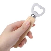 Деревянная ручка ручной бармен открывалка для бутылок для открытия пивного сидера безалкогольные напитки Mar28