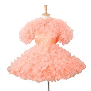 Personalizado hecho Pansy Sissy Locable satén anaranjado vestido Puffy Cosplay traje