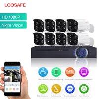 LOOSAFE Surveillance Cameras System AHD CCTV Security Camera 8CH 1080P HDMI CCTV DVR 8PCS 2 0