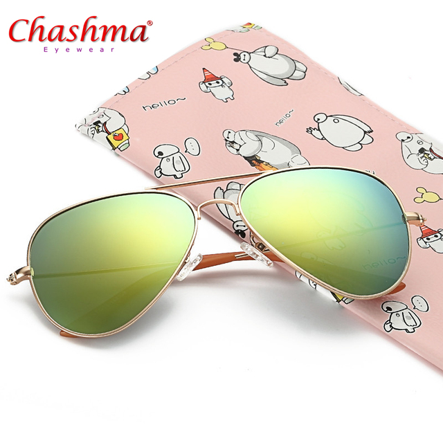 f442a573ea CHASHMA Vintage pilot Children s Sunglasses Metal Frame Polarized Lenses  UV400 Protection Sun glasses oculs de sol